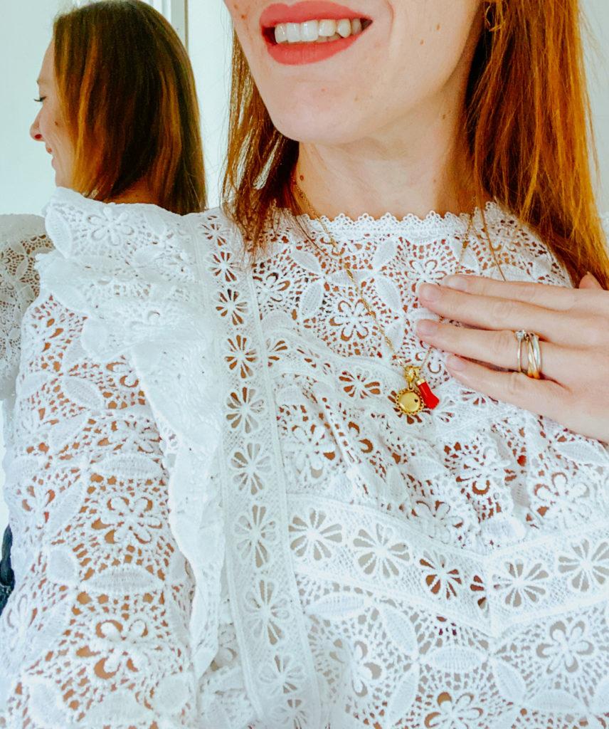 blouse dentelle Yvanna